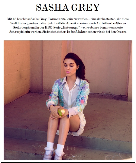 INTERVIEW speaks with Sasha Grey about her future career plans as an  actress and musician, including aTelecine's first ever live appearance.