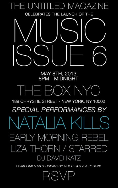 Starred flyer for Untitled Mag Party